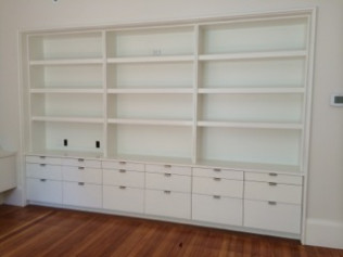 custom built shelves Woburn MA